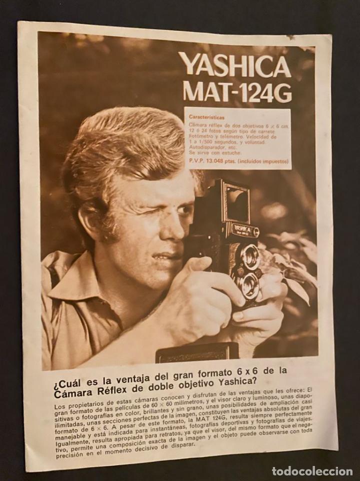 CATALOGO CÁMARAS YASHICA (Cámaras Fotográficas - Catálogos, Manuales y Publicidad)