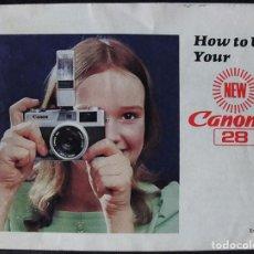 Fotocamere: CANONET 28 - LIBRO INSTRUCCIONES CANON - EN INGLES -. Lote 238332040