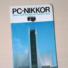 Cámara de fotos: NIKON PERSPECTIVE CONTROL NIKKOR LENS BROCHURE. TEXTS IN ENGLISH. Lote 238847425