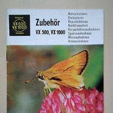 Cámara de fotos: EXAKTA VX 500, VX 1000. ZUBEHÖR. 1969. Lote 240439255