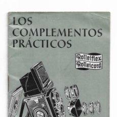 Cámara de fotos: ROLLEIFLEX ROLLEICORD LOS COMPLEMENTOS PRACTICOS. Lote 241948330