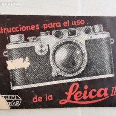 Cámara de fotos: MANUAL DE INSTRUCCIONES PARA EL USO DE LA LEICA III C. Lote 242340525