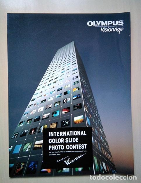 OLYMPUS VISIONAGE. ANUARIO DEL CONCURSO INTERNACIONAL DIAPOSITIVAS 1986 (Cámaras Fotográficas - Catálogos, Manuales y Publicidad)