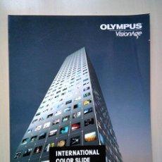 Cámara de fotos: OLYMPUS VISIONAGE. ANUARIO DEL CONCURSO INTERNACIONAL DIAPOSITIVAS 1986. Lote 242390420