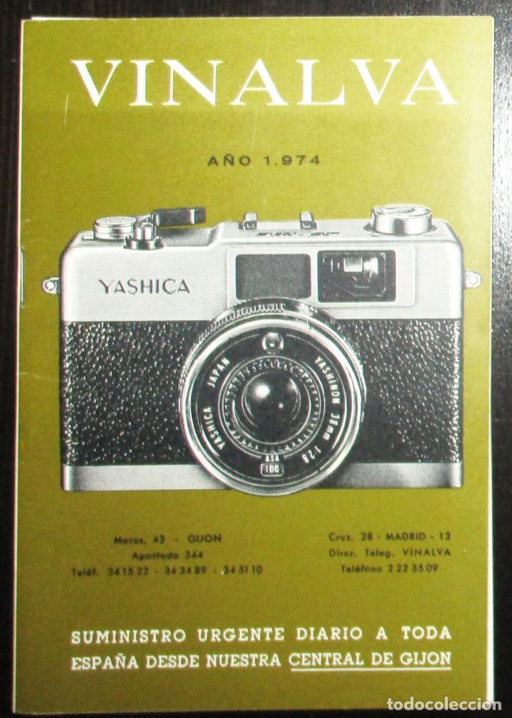CATÁLOGO DE CÁMARAS CANON, NIKON, YASHICA, MINOLTA, ETC. ALMACENES VINALVA, GIJÓN, 1974. (Cámaras Fotográficas - Catálogos, Manuales y Publicidad)