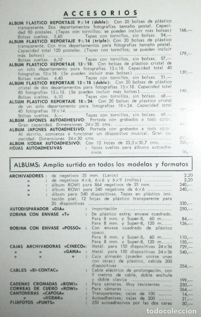 Cámara de fotos: CATÁLOGO DE CÁMARAS CANON, NIKON, YASHICA, MINOLTA, ETC. ALMACENES VINALVA, GIJÓN, 1974. - Foto 8 - 242901875