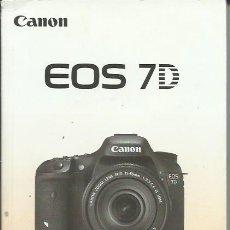 Cámara de fotos: CANON EOS 7 D MANUAL. Lote 242911000