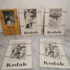 Cámara de fotos: LOTE 5 ANTIGUOS SOBRES KODAK PARA FOTOS Y NEGATIVOS. Lote 243368365