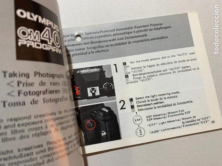 Cámara de fotos: MANUAL DE INSTRUCCIONES CAMARA DE FOTOS OLYMPUS OM 40 DE 1985 - Foto 2 - 243555490