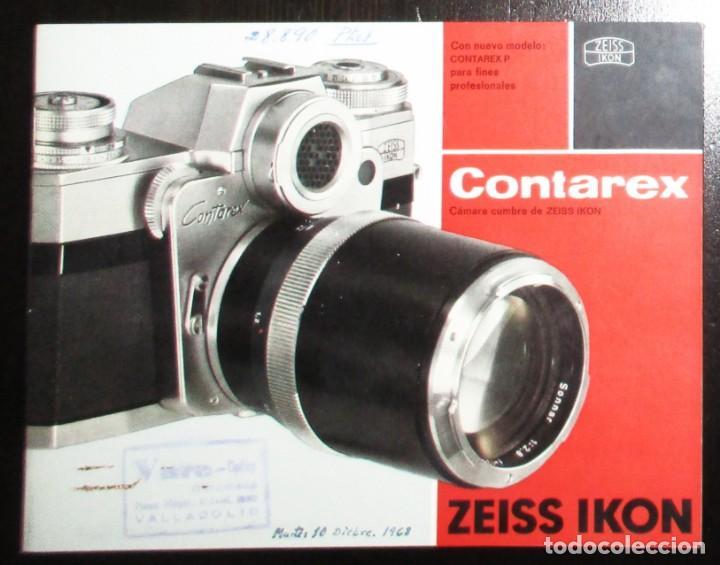 CATÁLOGO DE LA CÁMARA CONTAREX DE ZEISS IKON. ORIGINAL DE 1968. EN ESPAÑOL. (Cámaras Fotográficas - Catálogos, Manuales y Publicidad)