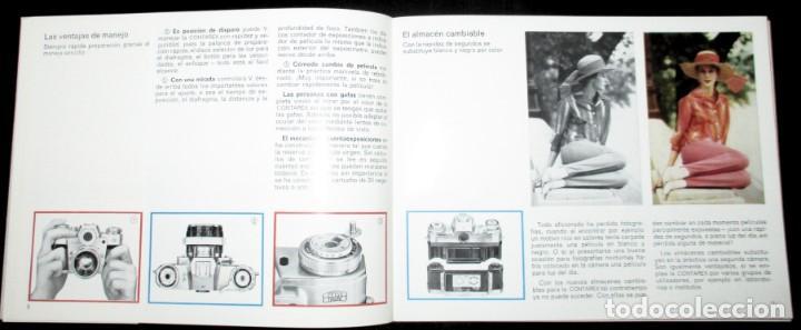 Cámara de fotos: CATÁLOGO DE LA CÁMARA CONTAREX DE ZEISS IKON. ORIGINAL DE 1968. EN ESPAÑOL. - Foto 3 - 243670910
