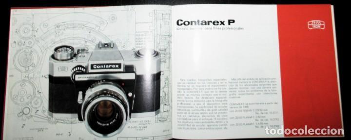 Cámara de fotos: CATÁLOGO DE LA CÁMARA CONTAREX DE ZEISS IKON. ORIGINAL DE 1968. EN ESPAÑOL. - Foto 5 - 243670910