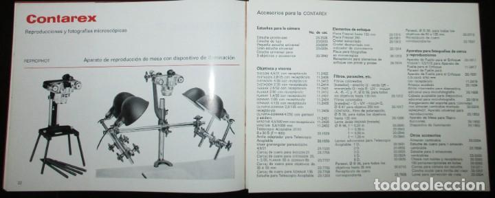 Cámara de fotos: CATÁLOGO DE LA CÁMARA CONTAREX DE ZEISS IKON. ORIGINAL DE 1968. EN ESPAÑOL. - Foto 6 - 243670910