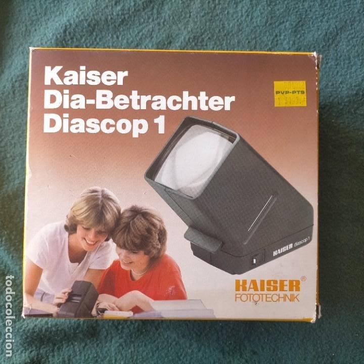 VISOR DE DIAPOSITIVAS. KAISER DIA-BETRACHTER DIASCOP 1. GERMANY. CON PILA INCLUIDA. A ESTRENAR (Cámaras Fotográficas - Visores Estereoscópicos)