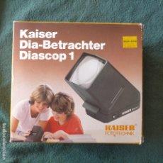 Fotocamere: VISOR DE DIAPOSITIVAS. KAISER DIA-BETRACHTER DIASCOP 1. GERMANY. CON PILA INCLUIDA. A ESTRENAR. Lote 244731020
