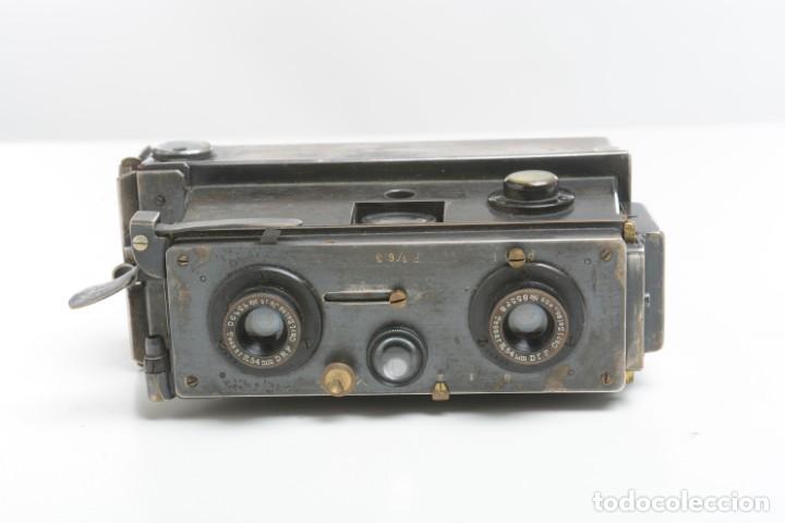 Cámara de fotos: Antigua cámara estereoscopica Verascope Bte SCDG París objetivos Zeiss - Foto 4 - 245258770