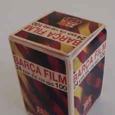 Cámara de fotos: MUY DIFÍCIL / CAJA NUEVA CARRETE FOTOS - BARÇA FILM 24 EXP. DX 135 ISO 100 - F.C.B. 1996 - CAD 05/98. Lote 245372865