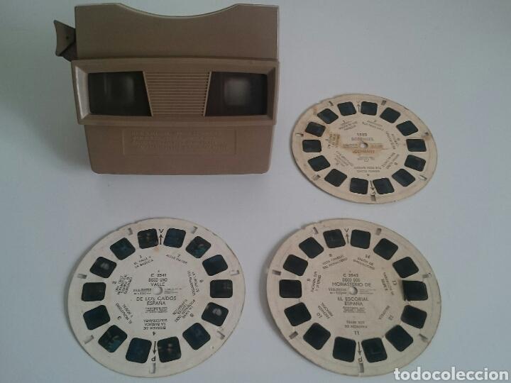 VISOR ESTEREOSCOPIO SAWYERS VIEW MASTER VIEWMASTER + REGALO 3 RUEDAS FILMS (Cámaras Fotográficas - Visores Estereoscópicos)