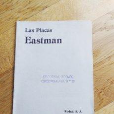 Cámara de fotos: LAS PLACAS EASTMAN - KODAK - MANUAL DE INSTRUCCIONES Y DESCRIPTIVO - 24 PAG. - 19X13, 5CM. Lote 247202020