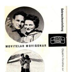 Cámara de fotos: ZEISS IKON - CATÁLOGO MOVITELAR MOVIGONAR - 96X65. Lote 249295395