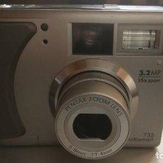 Cámara de fotos: CAMARA FOTOGRAFICA HP PHOTOSMART 735 - 3.2 MP - 15 X ZOOM - PENTAX ZOOM LENS 5.8 MM 17.4 MM. Lote 251635285