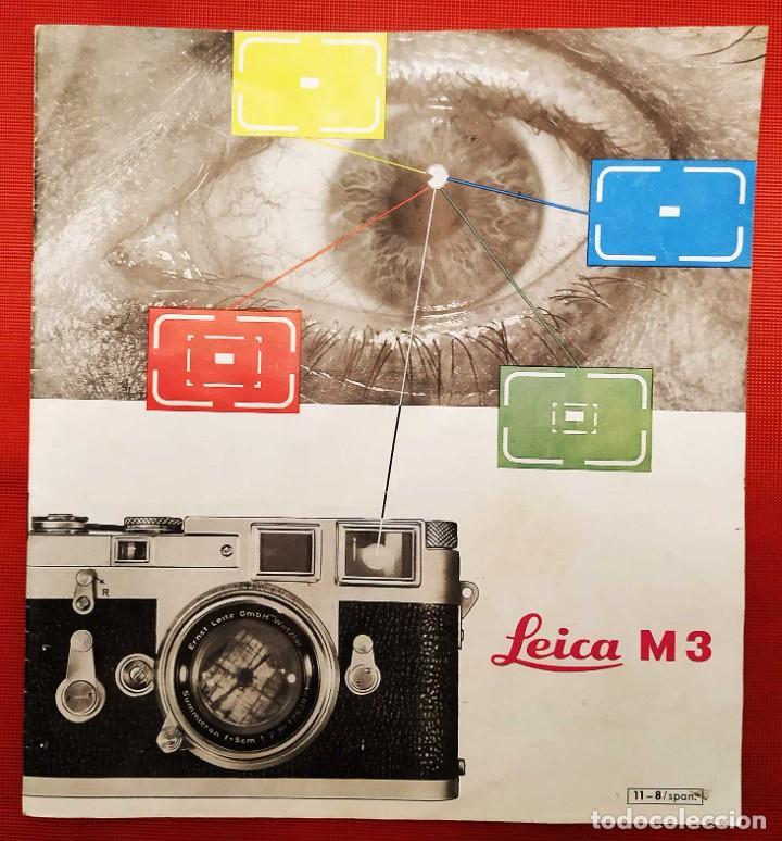 LEICA M 3. ANTIGUO CATALOGO DE INSTRUCCIONES. AÑO 1959. EN ESPAÑOL. 20 PÁGINAS. (Cámaras Fotográficas - Catálogos, Manuales y Publicidad)