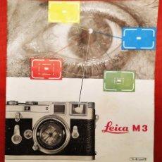 Cámara de fotos: LEICA M 3. ANTIGUO CATALOGO DE INSTRUCCIONES. AÑO 1959. EN ESPAÑOL. 20 PÁGINAS.. Lote 256165890