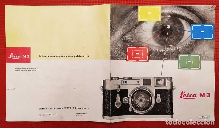 Cámara de fotos: LEICA M 3. ANTIGUO CATALOGO DE INSTRUCCIONES. AÑO 1959. EN ESPAÑOL. 20 PÁGINAS. - Foto 2 - 256165890