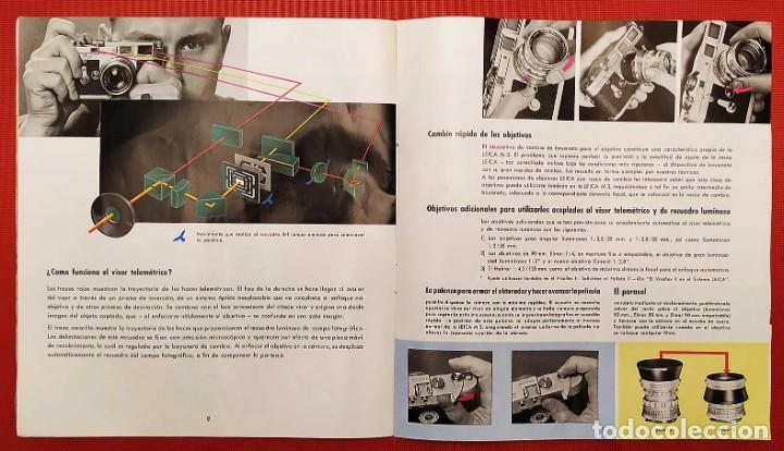 Cámara de fotos: LEICA M 3. ANTIGUO CATALOGO DE INSTRUCCIONES. AÑO 1959. EN ESPAÑOL. 20 PÁGINAS. - Foto 4 - 256165890