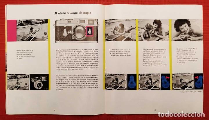 Cámara de fotos: LEICA M 3. ANTIGUO CATALOGO DE INSTRUCCIONES. AÑO 1959. EN ESPAÑOL. 20 PÁGINAS. - Foto 5 - 256165890