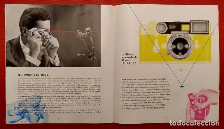 Cámara de fotos: LEICA M 3. ANTIGUO CATALOGO DE INSTRUCCIONES. AÑO 1959. EN ESPAÑOL. 20 PÁGINAS. - Foto 6 - 256165890