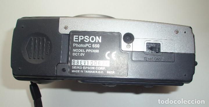 Cámara de fotos: CÁMARA DIGITAL EPSON, PHOTO PC 650. AUTO FOCUS.1152 X 864 PIXELS. 37MM THREADS. GLASS ASPHERICAL. - Foto 4 - 45528883