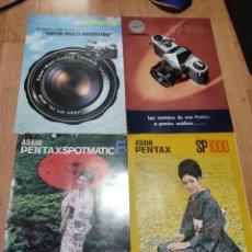 Cámara de fotos: LOTE DE 7 CATALOGOS DE ASAHI PENTAX : SPOTMATIC F, II, SP1000, SP 500, 6X7, ES,PENTAX, ETC... Lote 258119195