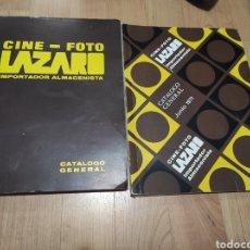 Cámara de fotos: LOTE DE 2 CATALOGOS CINE-FOTO LAZARO 1971 Y 1972. Lote 258130035
