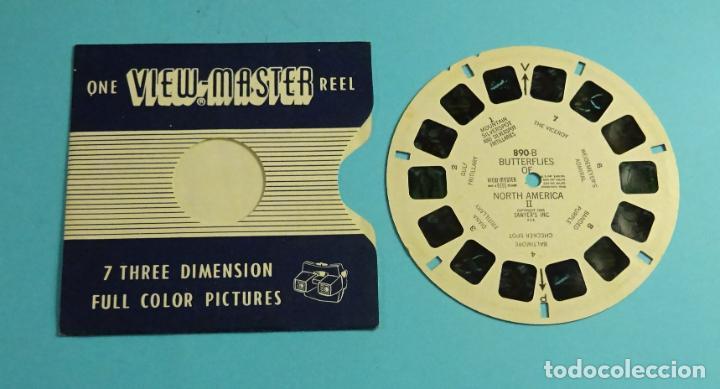 DISCO PARA VISOR ESTEREOSCÓPICO. VIEW-MASTER. 7 IMÁGENES 3D A COLOR. MARIPOSAS NORTE AMÉRICA II (Cámaras Fotográficas - Visores Estereoscópicos)