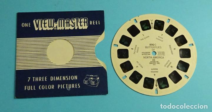 DISCO PARA VISOR ESTEREOSCÓPICO. VIEW-MASTER. 7 IMÁGENES 3D A COLOR. MARIPOSAS NORTE AMÉRICA III (Cámaras Fotográficas - Visores Estereoscópicos)