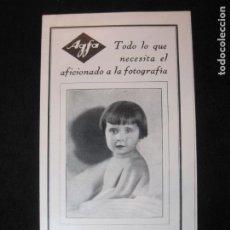 Fotocamere: AGFA-CATALOGO PUBLICIDAD ANTIGUA FOTOGRAFIA-VER FOTOS-(K-2513). Lote 258793250