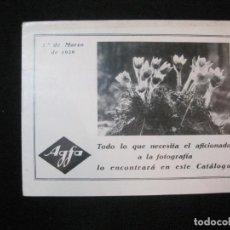 Fotocamere: AGFA-AÑO 1929-CATALOGO PUBLICIDAD FOTOGRAFIA-VER FOTOS-(K-2530). Lote 258796240