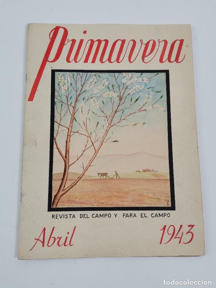 PR-2082. REVISTA PRIMAVERA, ABRIL 1943. PROYECTO DISEÑO REALIZADO A MANO. (Cámaras Fotográficas - Otras)