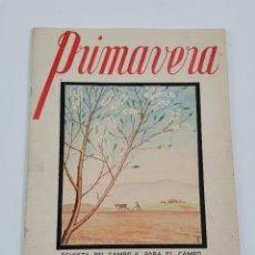 Cámara de fotos: PR-2082. REVISTA PRIMAVERA, ABRIL 1943. PROYECTO DISEÑO REALIZADO A MANO.. Lote 258979910