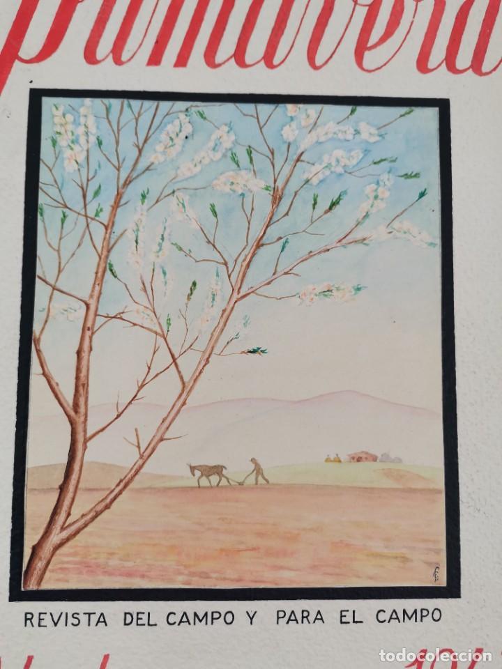 Cámara de fotos: PR-2082. REVISTA PRIMAVERA, ABRIL 1943. PROYECTO DISEÑO REALIZADO A MANO. - Foto 2 - 258979910