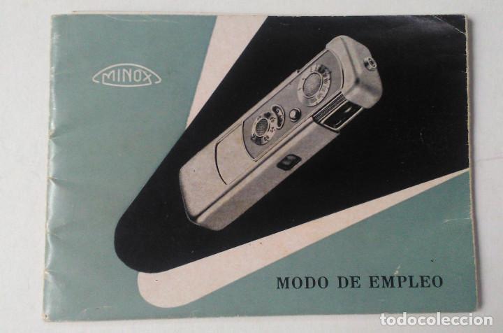 MINOX. MODO DE EMPLEO (Cámaras Fotográficas - Catálogos, Manuales y Publicidad)
