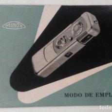 Fotocamere: MINOX. MODO DE EMPLEO. Lote 262706870