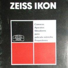 Fotocamere: ZEISS IKON. CATÁLOGO DE 1965 DE CÁMARAS, PROYECTORES Y APARATOS FILMADORES.. Lote 265155169