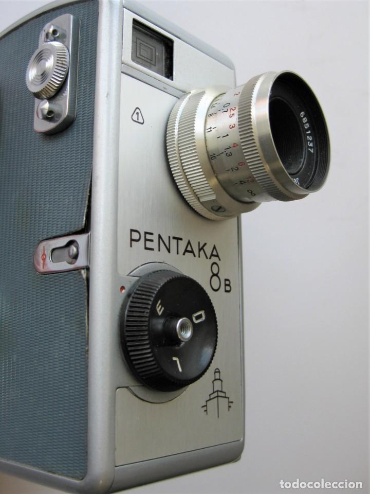 Cámara de fotos: CÁMARA DE CINE A CUERDA 8 mm..PENTACON PENTAKA 8 B..ALEMANIA 1960..BUEN ESTADO.FUNCIONA - Foto 4 - 265496269
