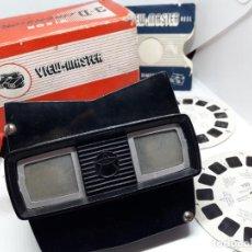 Cámara de fotos: VISOR 3D VIEWMASTER CON CAJA ORIGINAL Y 2 DISCOS. Lote 266700943