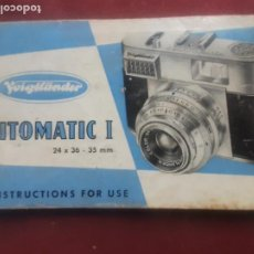 Cámara de fotos: CÁMARA DE FOTOS VITOMATIC I. FOLLETO. Lote 269971488