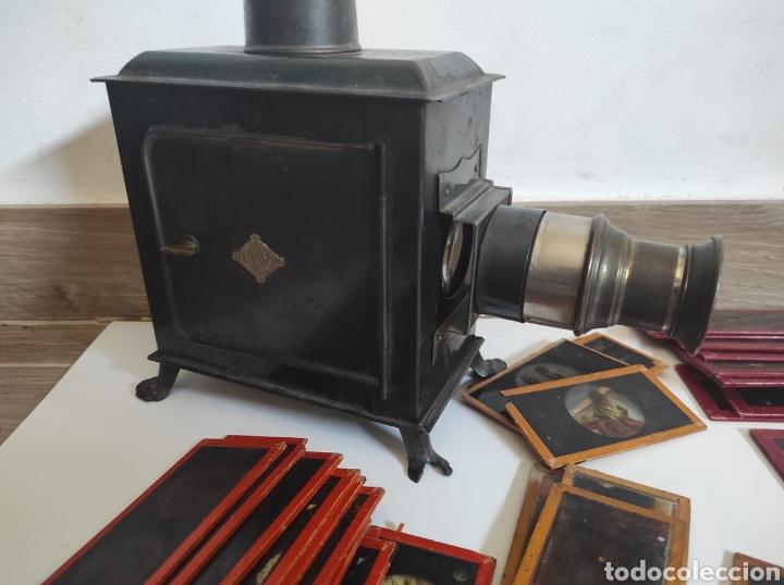 Cámara de fotos: Gran lote de linterna mágica GBN con 39 cristales. Circa 1890 - Foto 2 - 276169413
