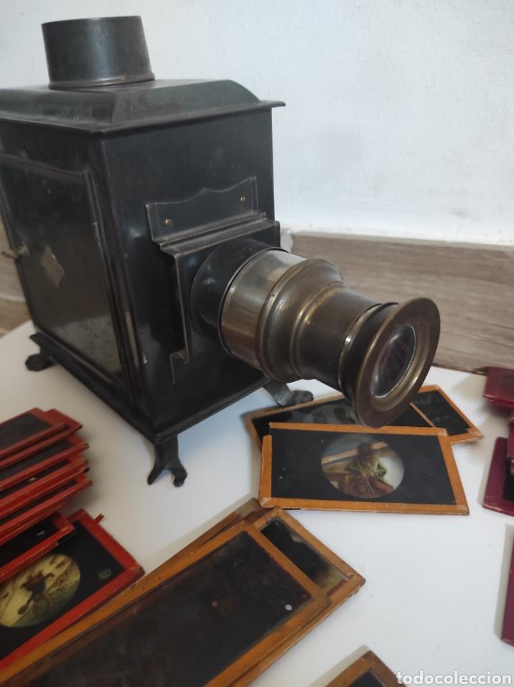 Cámara de fotos: Gran lote de linterna mágica GBN con 39 cristales. Circa 1890 - Foto 3 - 276169413