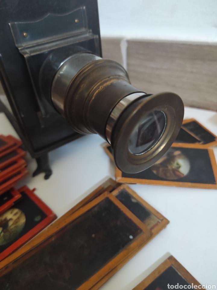 Cámara de fotos: Gran lote de linterna mágica GBN con 39 cristales. Circa 1890 - Foto 6 - 276169413